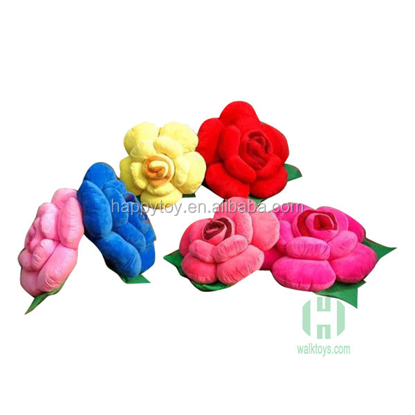HI CE hot sale! Soft rose plush flower toy for Valentine Gift with Valentine's day card