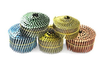 chaohu factory pallet coil nails maufacturing 2.8x60mm bright ring coil nails/loose nails
