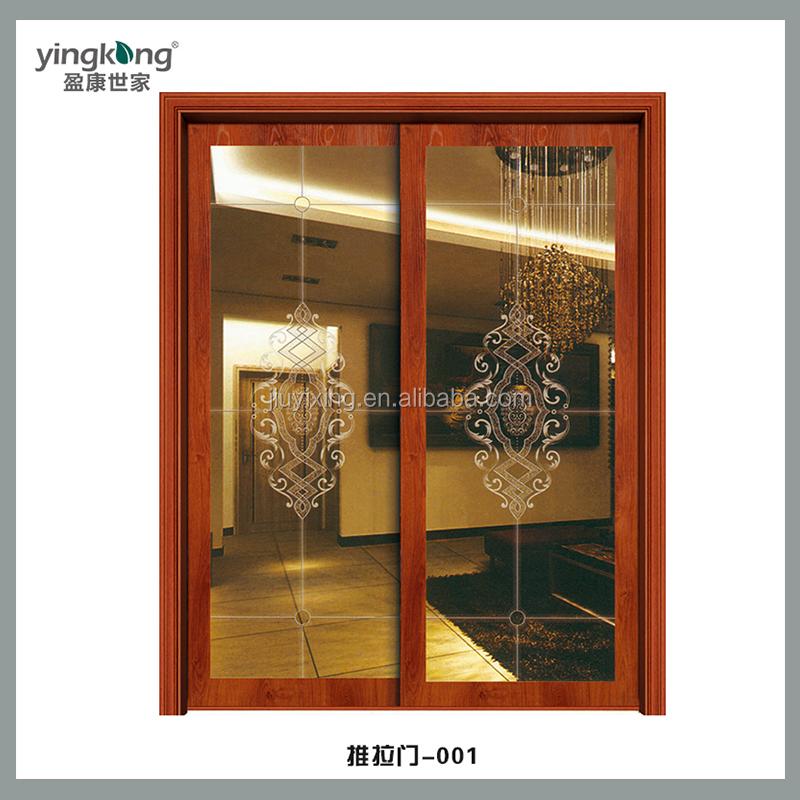 Yk telaio in legno porta scorrevole in vetro con funzione impermeabile e il design semplice - Telaio porta scorrevole prezzo ...