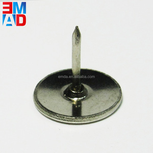 Custom nickel silver metal flat head thumb tacks push pin