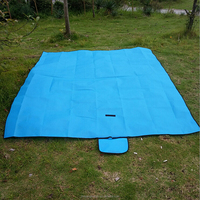 promotional waterproof portable outdoor camping polyester plain picnic blanket