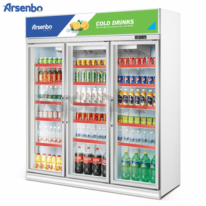 Upright Glass Door 3 Door Commercial Refrigerator