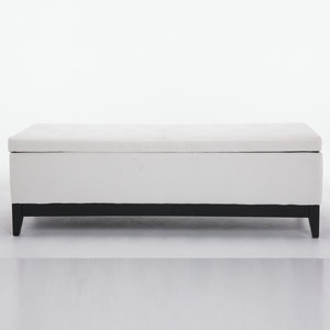 High Quality Bench Storage Ottoman With Wooden Legs