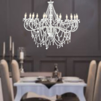 Crystal Hanging Candle Chandeliers pendant lights for marriage / home decoration