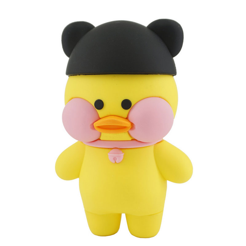 2017 New design silicone cute little yellow duck power bank rechargeable mobile phone portable charger mini cartoon power bank