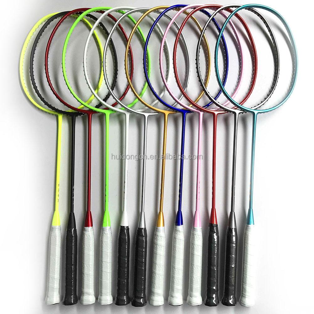 Nieuwe Stijl Verschillende Kleuren Aangepaste Logo Hoge Kwaliteit Full Carbon Graphite Badminton Racket Groothandel Ontwerp Uw Eigen