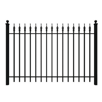 Black Wrought Iron Fence Cost