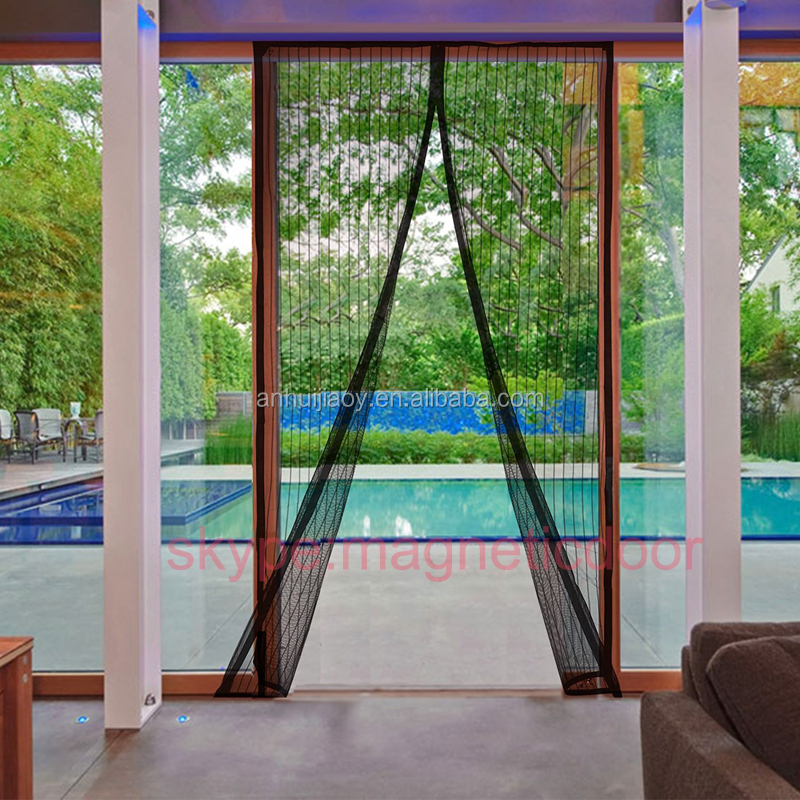 new premium magnetic screen door Heavy Duty instant bug Mesh Curtain
