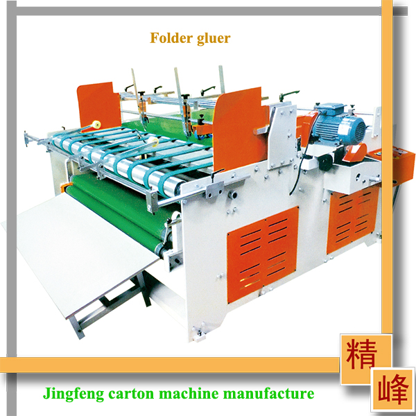 hebei dongguang carton box making machine low price/ semi-automatic flexo folder gluer