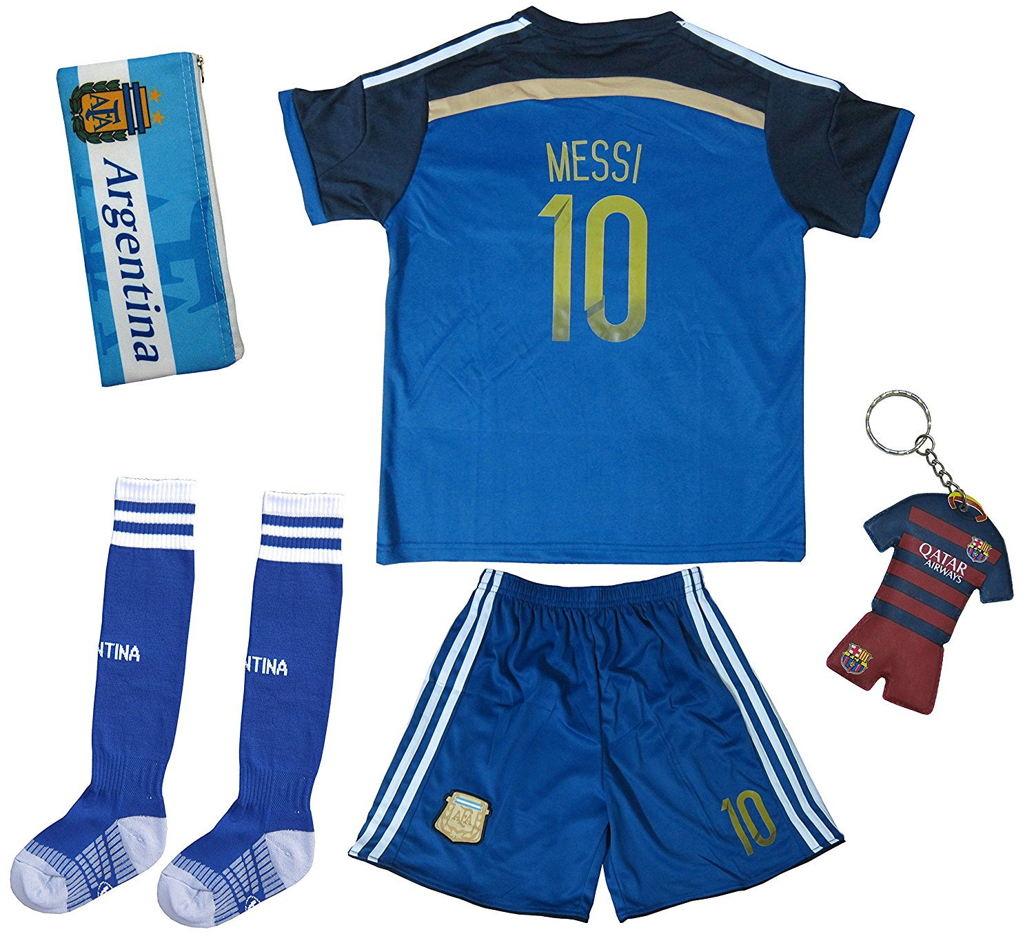 d36122785 2017 Argentina LIONEL MESSI  10 Away Soccer Kids Jersey   Short Set Youth  Sizes