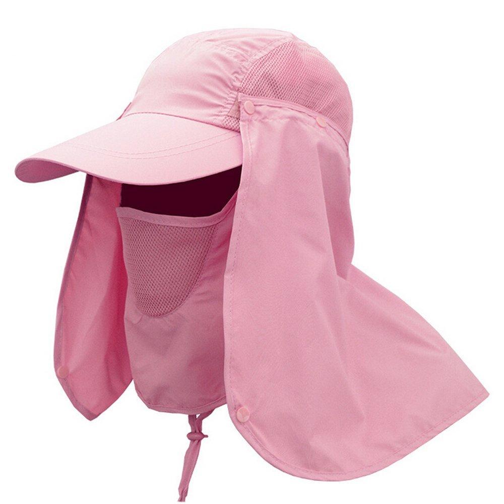 f69038bb3a5 Ezyoutdoor Unisex Pink Outdoor Sport 360 Degree Summer Sun Quick-drying  Sunscreen UV50+ protection fishing