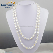 baroque 48 inches white color ladies love pearl necklace jewelry