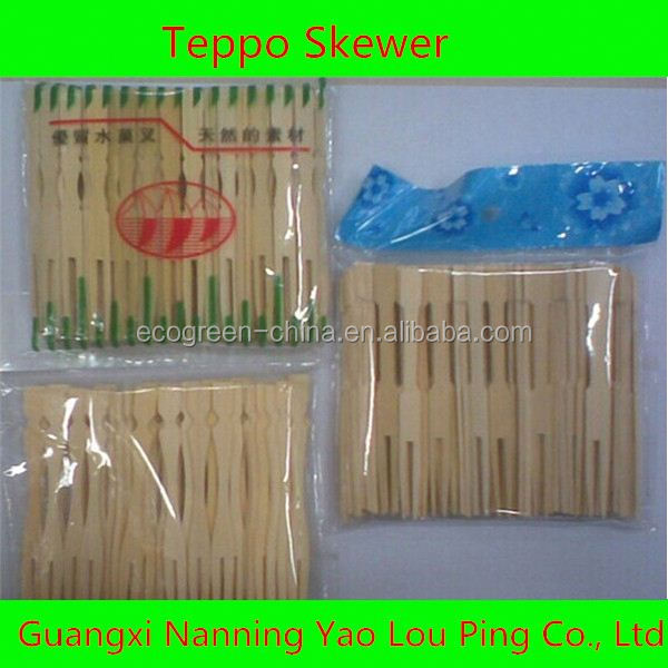 Top food grade disposable all size bamboo skewer with custom logo