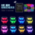 2018 Remote Radio Control Concert LED Bracelet Multi-zone Remote Control Wristbands LED With 15color Flashing Supplier