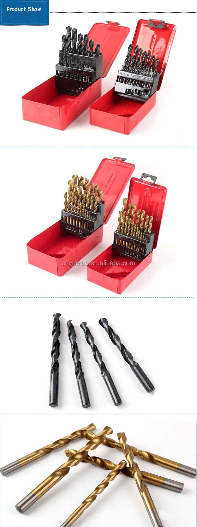 25pcs Aluminum for Drilling Jobs HSS Drill Bit Straight Shank Durable 1mm-13mm High Speed Steel Drill Bit Set 4341 steel