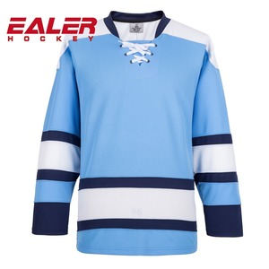 Wholesale black blank ice hockey jersey accept custom logo/name/number