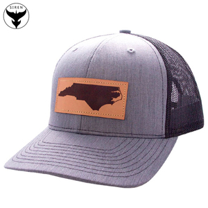 715cfcbb6 Mens Vintage Custom Embossed Leather Patch Trucker Hat