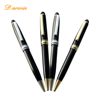 Hot selling rose gold design premium metal ballpoint pens for custom laser logo