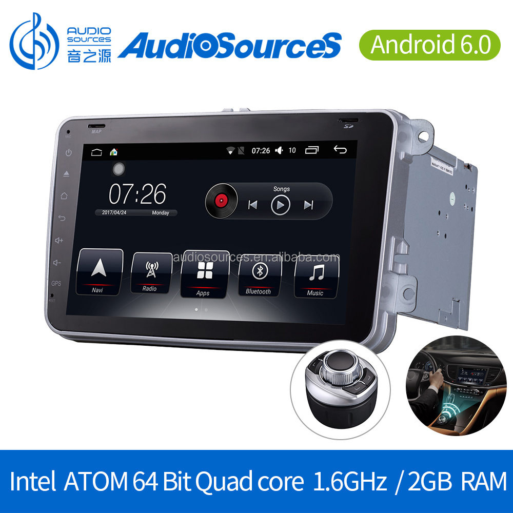 Manufacture navigation android 6.0 Car Stereo automobile dvd player 12v with CD/ DVD / MP For volkswagen with gps