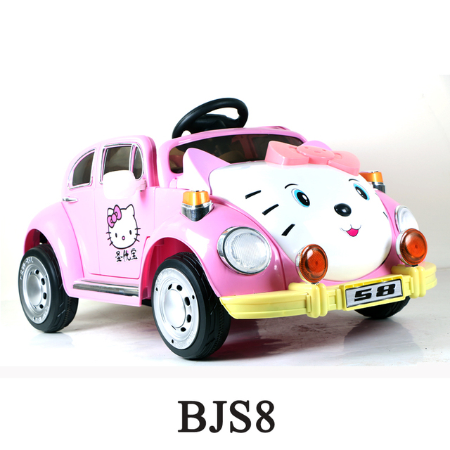 pink cotton design ride on car 12v 2017hello kitty carkids electric cars