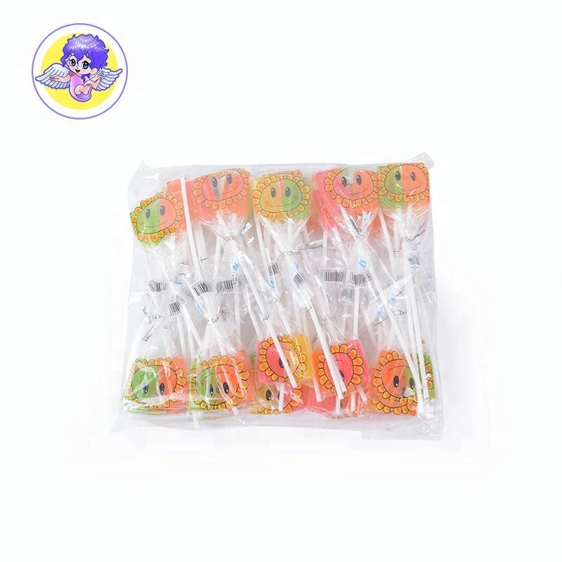 halal multi-color long stick ice cream lollipops with opp bag packing
