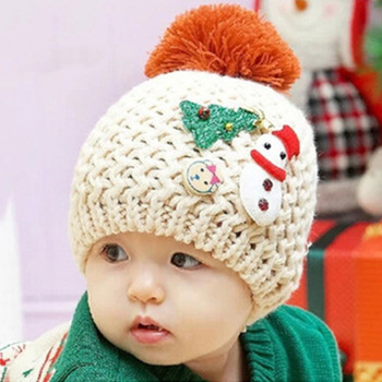 490871c15f7 Korea winter baby caps children Christmas scarf hat infant knit warm  earmuffs hat