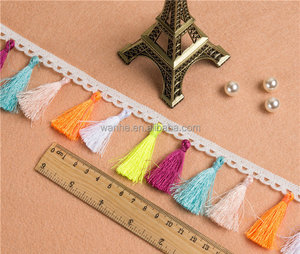 Cotton Tassel Lace Trimming for Garment Decorated