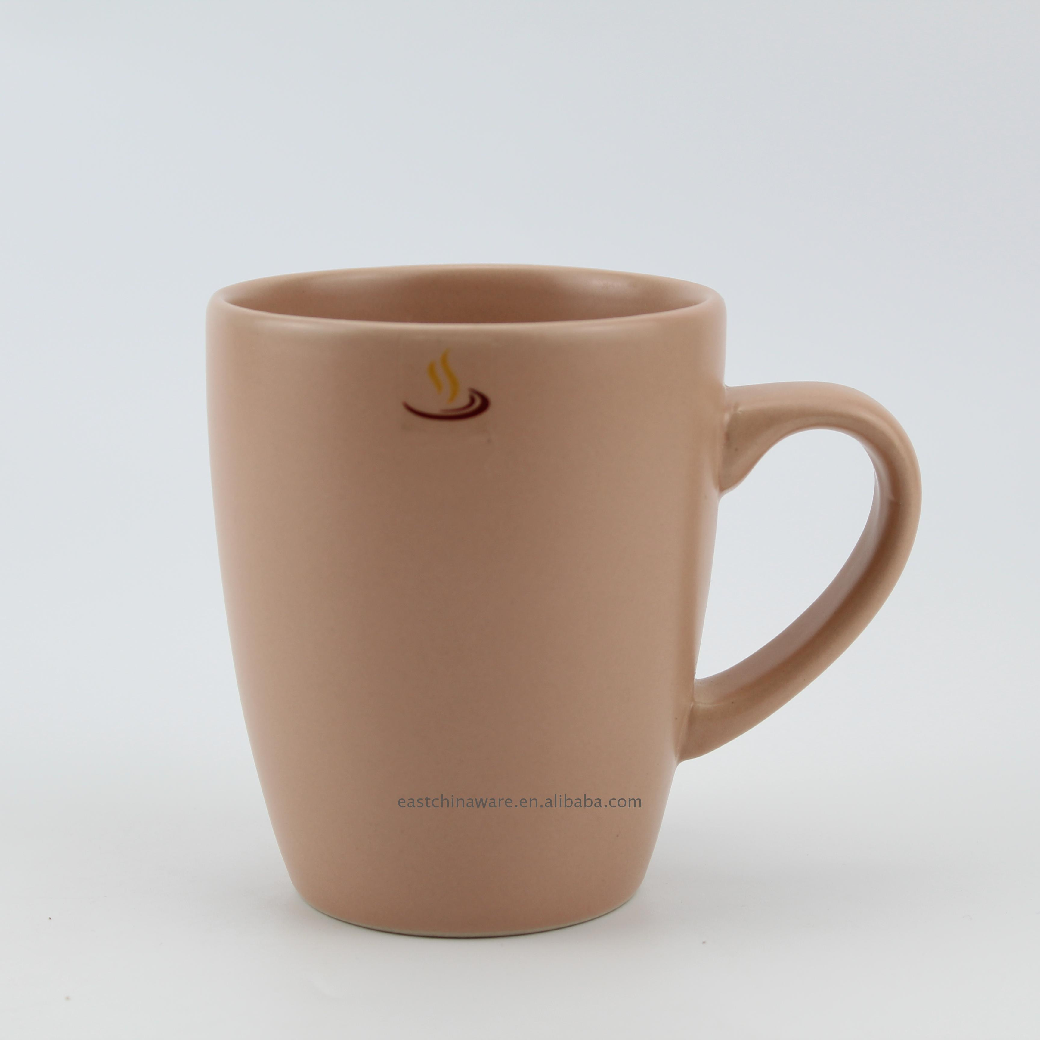Economic and Efficient ceramic tea cups solid color mug