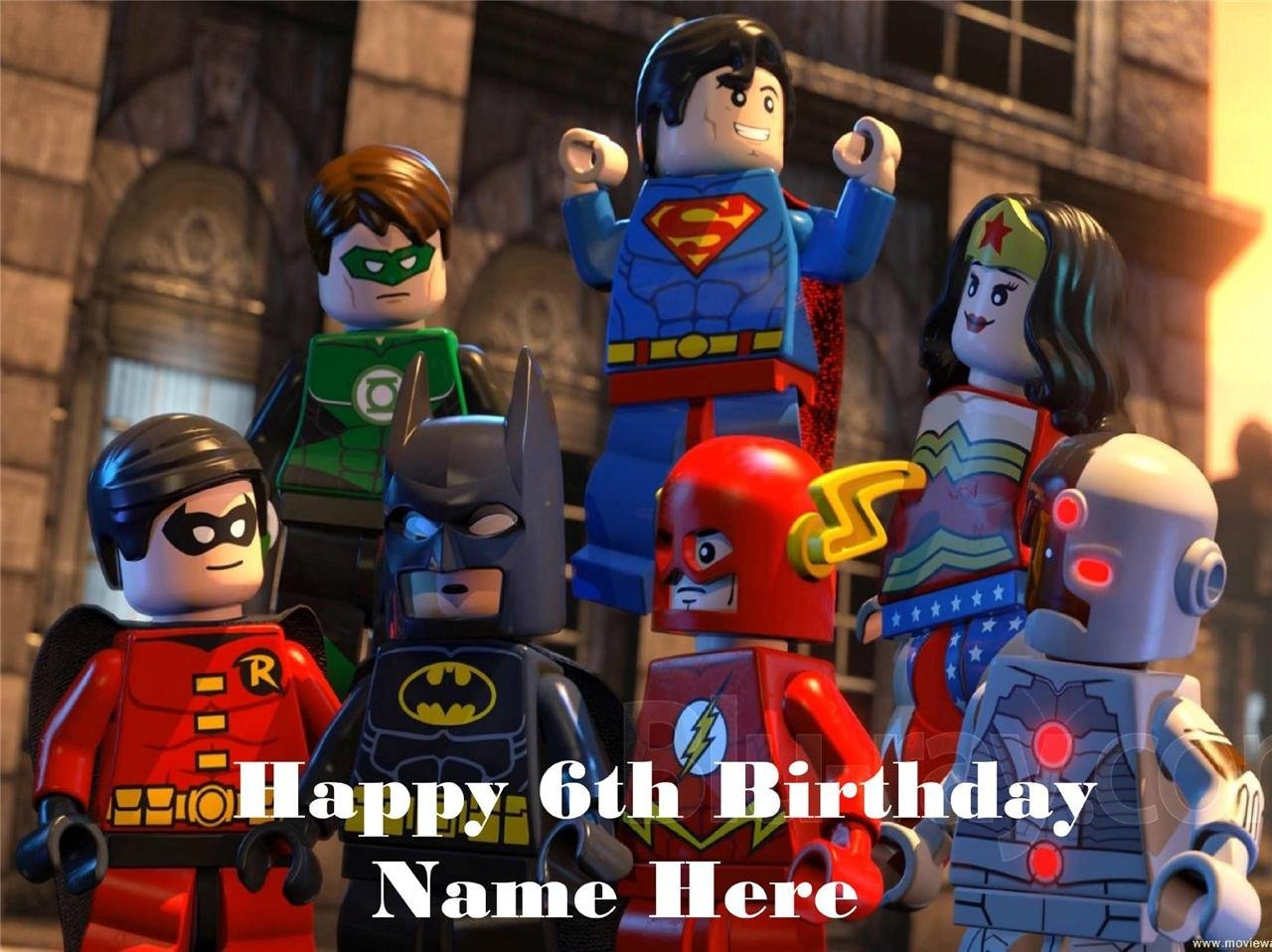 Lego Super Heroes edible icing cake toppers. View 3 images Select + personalise! image 3