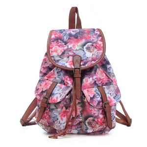 40114602f7e Fancy girls school backpack of walmart audit factory, offset printed floral  flower pattern backpack back pack rucksack daypack b