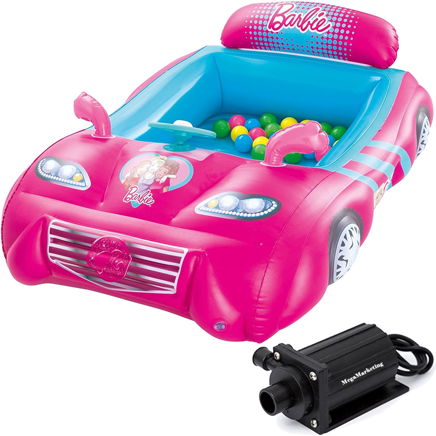 Get Quotations Barbie Inflatable Sports Car Playland Ball Pit For Toddler S Pink With 25 Piece