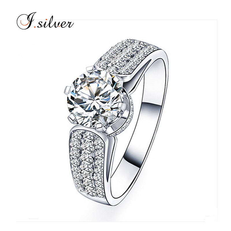 2018 Wholesale 925 sterling silver engagement and wedding rings R50041