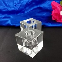 2019 Promotional Clear Square Hurricane Candle Holder Glass Cheap And Votive Glass Candle Jar