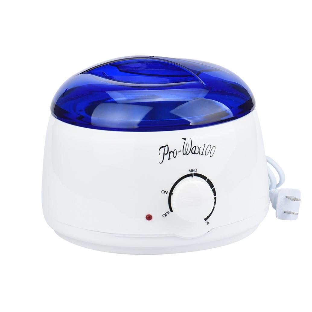 Fineser Hair Removal Wax Warmer,Electric Heater Wax Warmer with 100g Hair Removal Wax Beans and 20 Wax Applicator Sticks For Women and Man (F)