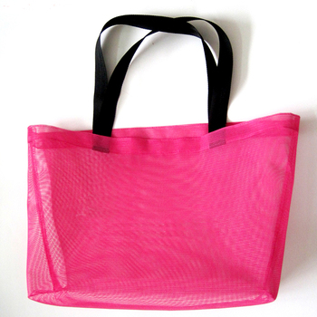 Mesh Beach Bag Extra Heavy Duty Mesh Tote Beach Bag with Zipper and Large Pockets