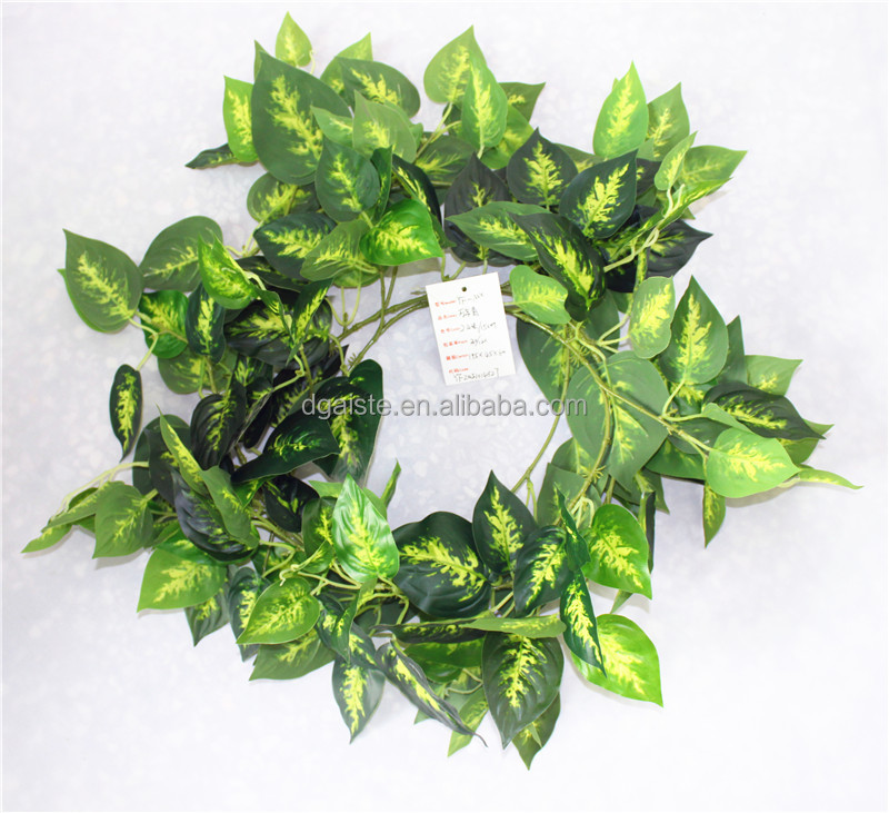 vertical garden wall hanging 240cm Long cheap make fake recycling plastic PE artificial plant EMX10 3010