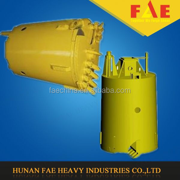 Rotary Drill Bucket with Chisel & Flat Teeth for Rock&Cobble Formation,drilling buckets
