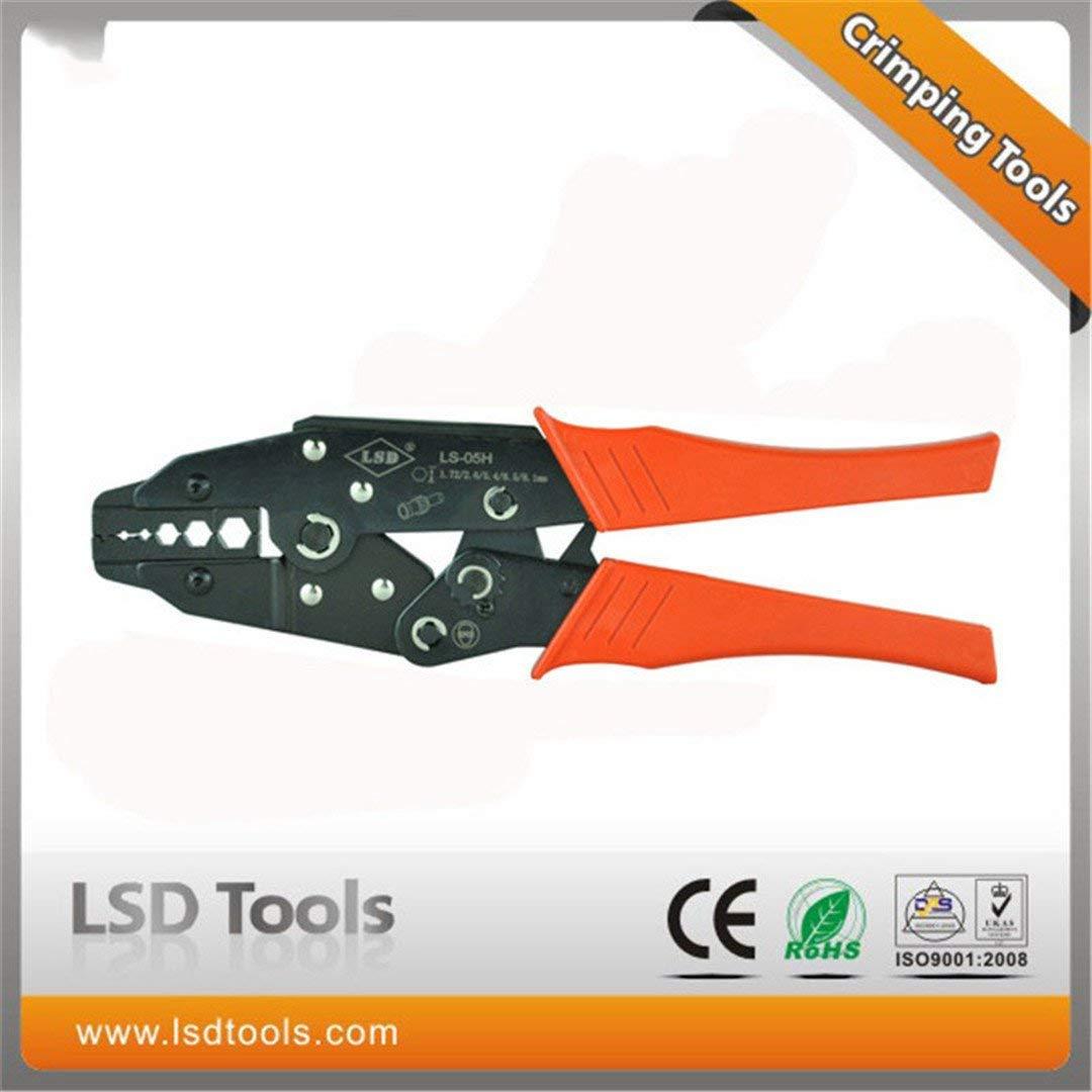 LS-05H Coaxial Crimping Pliers RG55 RG58 RG59 Coaxial Crimper SMA/BNC Connectors Crimp Tool Carbon Steel Ratchet Crimping Tool