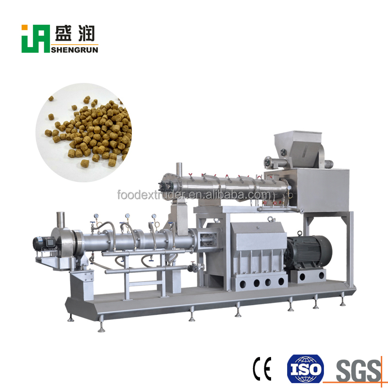 Automatic Twin Screw Fish Feed Extruder Price