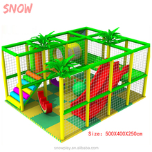 Small kids indoor play center with double-way slide