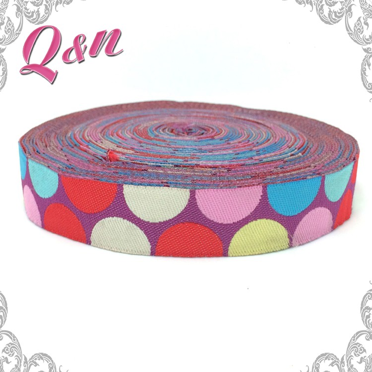 Fashion custom woven jacquard ribbon trim