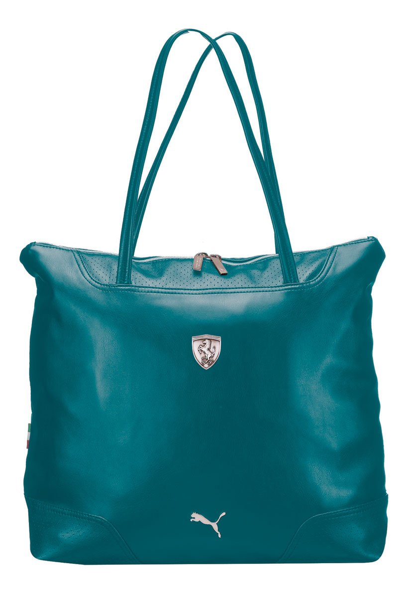 99ae8beb687b Get Quotations · Puma Ferrari LS Ladies Leather Green Shoulder Bag