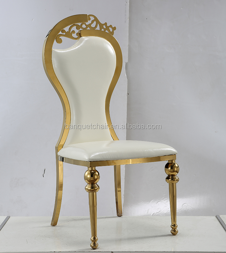 China manufacturer golden infinity stainless steel chair