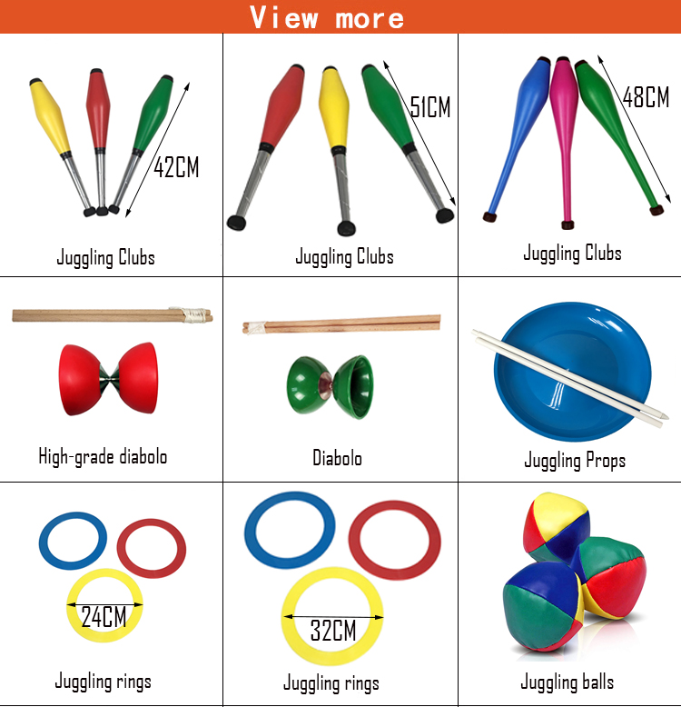 Professional Multifunctional Circus juggling Clubs