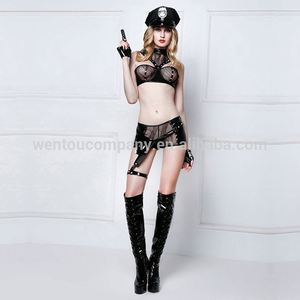 Wholesale Sexy Lingerie Girl Costume Uniform Cosplay Sexy Police Lingerie