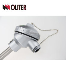 Sheathed thermocouple k type with temperature transmitter