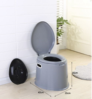 plastic portable mobile WC toilet