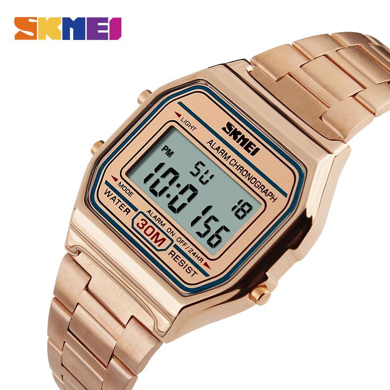 Watches Stainless Steel Men Fashion Casual Watch LED Man Digital Men Wristwatch фото