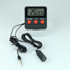 Digital Water Aquarium Fish Tank Thermometer Temperature Humidity Meter with Dual Probes and Suction Cup in ABS Material