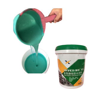 Water Based 951 Color Elastic Waterproof Coating Acrylic Polymer Cement latex Paint for Bathroom